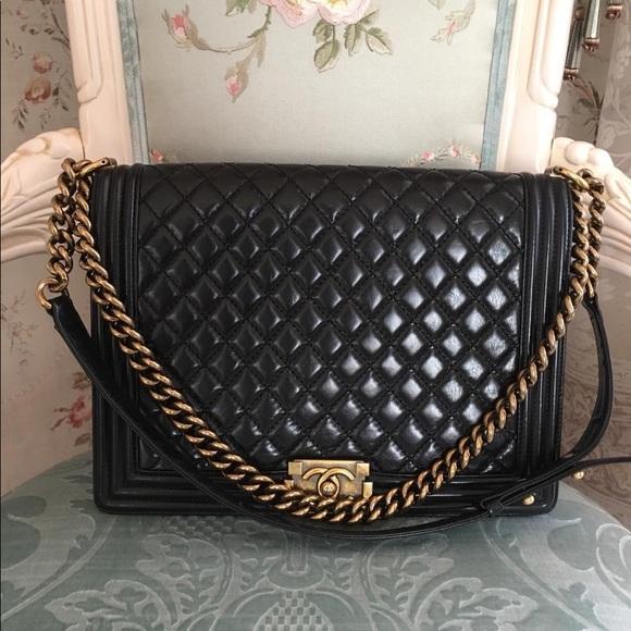 CHANEL Handbags - Chanel large Le boy Bag